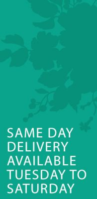 ORDER BEFORE 11AM FOR SAME DAY DELIVERY. AVAILABLE TUESDAY TO SATURDAY